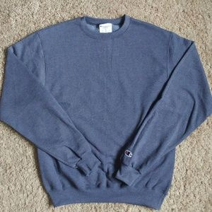 Champion Authentic Blue Gray Crewneck Sweatshirt